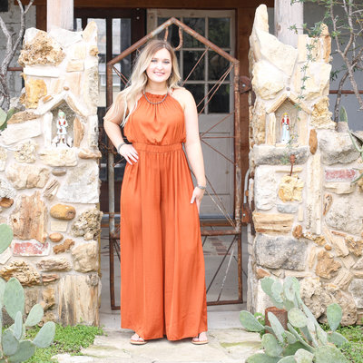 Punchy's Rust So Chic Jumpsuit