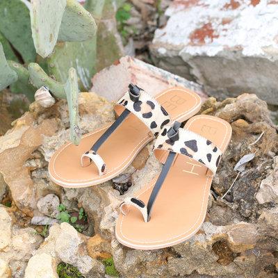 Punchy's Offshore Leopard Cowhide Sandal
