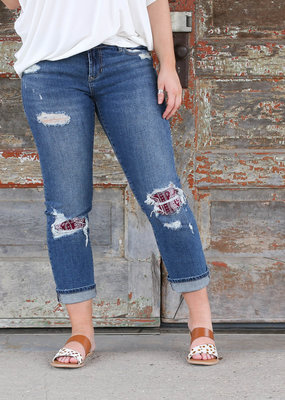 Punchy's Red Bandana Patch Liam Straight Leg Jean