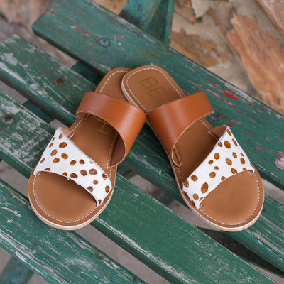 Punchy's Spotted Brown Strap Sandal