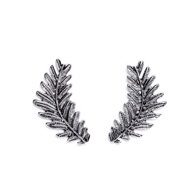 Punchy's Silver Leaf Post Earring