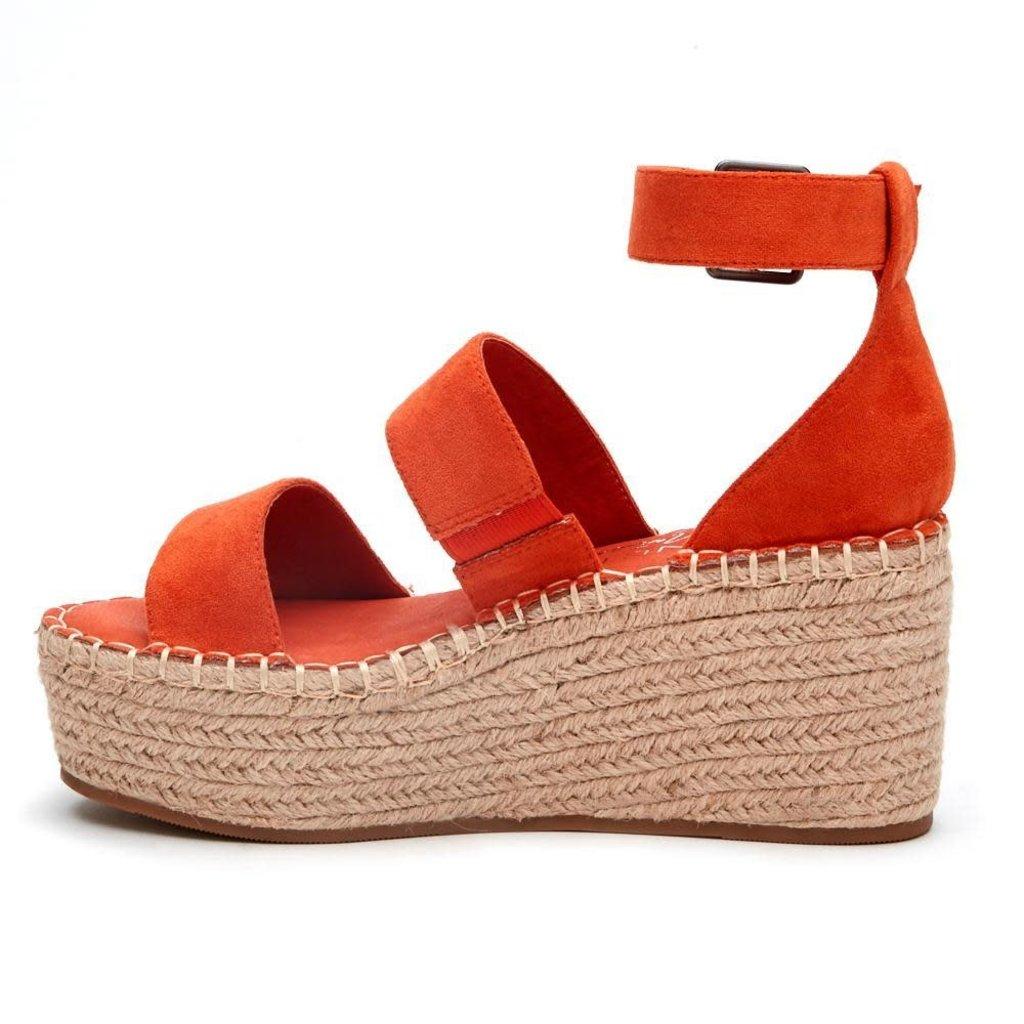 Punchy's Hello Paradise Coral Platform Sandal
