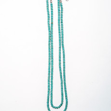 Punchy's 66in Turquoise Disk Bead Necklace