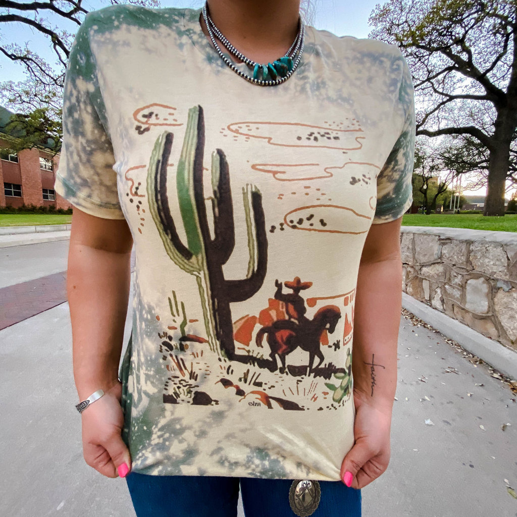 Punchy's Bleach Cactus Canyon Cowboy Tee