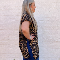Punchy's Cheetah Cap Sleeve Top