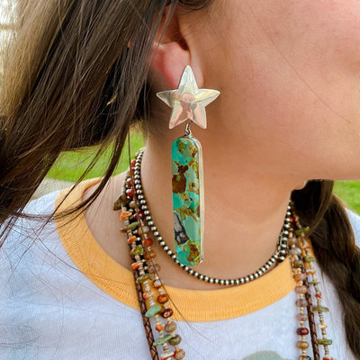 Punchy's Cosmic Queen Of The Frio Slab Earrings