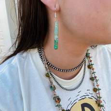 Punchy's Green Cylinder Slab Earrings