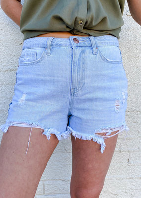 Punchy's Light Wash Distressed Jean Shorts