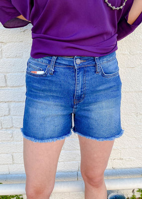 Punchy's Medium Wash Frayed Denim Shorts