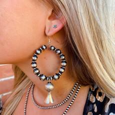 Punchy's Navajo Pearl Blossom Drop Earrings