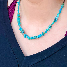 "Punchy's 18"" Chipped Turquoise Necklace"