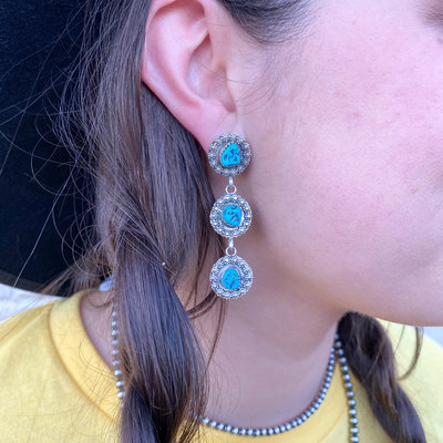 Punchy's Turquoise Rosarita Earrings