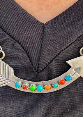Punchy's Multi Colored Arrow Bar Necklace