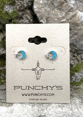 Punchy's Moon and Star Stud with Turquoise