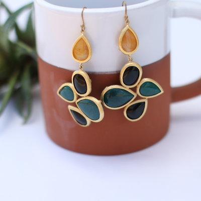 Punchy's Gold Plated Teardrop Earring