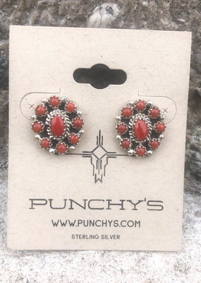 Punchy's Mini Coral Cluster Studs