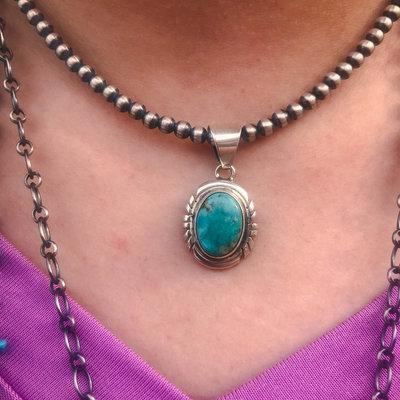 Punchy's Petite Turquoise Pendant #2