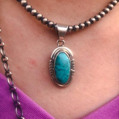Punchy's Petite Turquoise Pendant #1