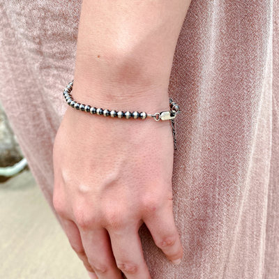 Punchy's 5mm Adjustable Navajo Pearl Bracelet