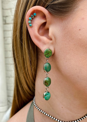 Punchy's Petite Green Turquoise Linear Earring