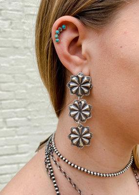 Punchy's Triple Star Burst Earring