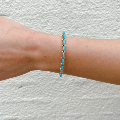 Punchy's Petite Turquoise Stacker Cuff