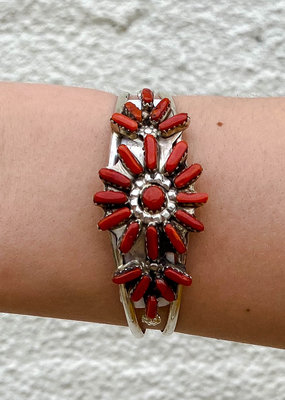 Punchy's Coral Flower Cluster Cuff
