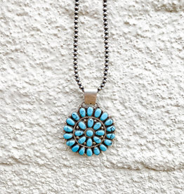 Punchy's 2in Blue Cluster Pendant