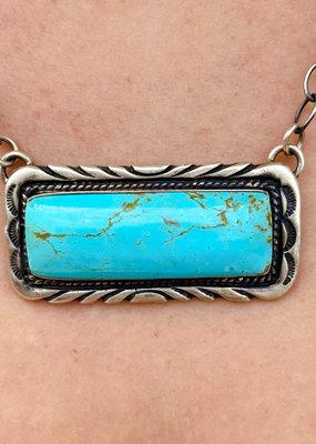 Punchy's Blue Statement Bar Necklace