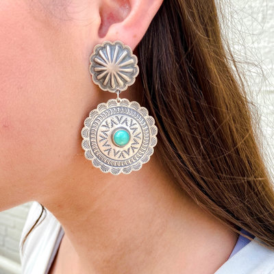 Punchy's Double Concho Earrings Carico Lake