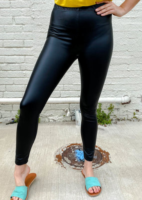 Punchy's Black High Waisted Matte Faux Leather Leggings