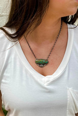 Punchy's Carico Lake Oval Turquoise Bar Necklace