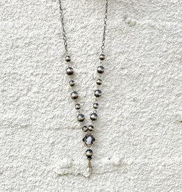 Punchy's Navajo Pearl White Buffalo Blossom Drop Necklace
