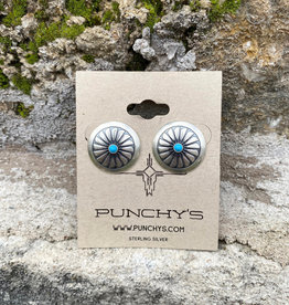Punchy's Medium Windmill with Turquoise Stud