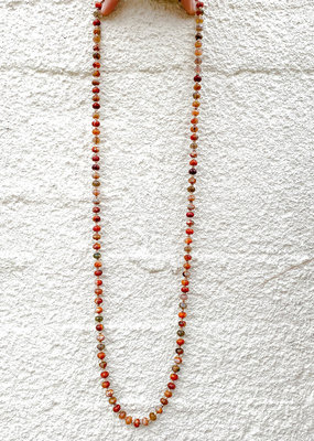 """Punchy's Multi Colored Agate Bead Necklace 38"""""""