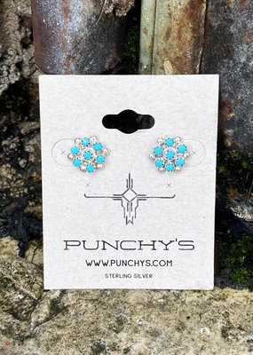Punchy's Petite 7 Stone Cluster Earrings