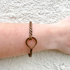 Punchy's Braided Copper Bracelet with Circle Clasp