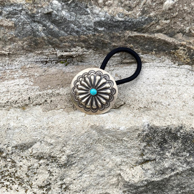 Punchy's Round Turquoise Concho Hair Tie