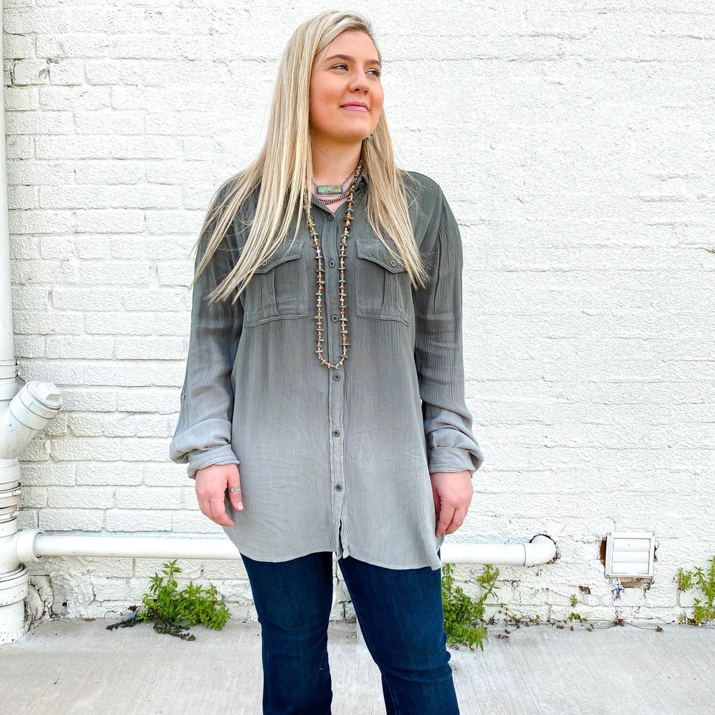 Punchy's Olive Ombre Button Up
