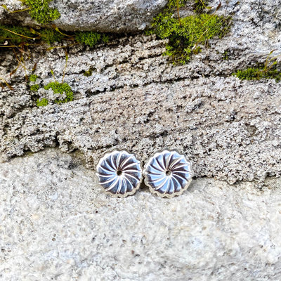 Punchy's Sterling Silver Swirl Earring Back 1cm