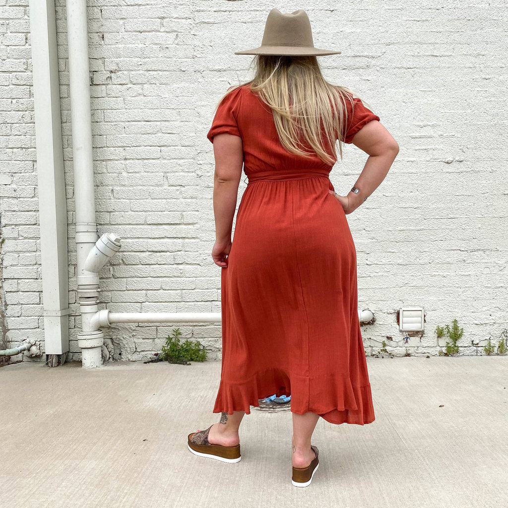 Punchy's Rust Falling For You Maxi Dress