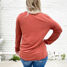 Punchy's Rust Long Sleeve with Twist Front