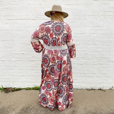 Punchy's Rust Printed Long Cardigan