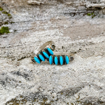 Punchy's Turquoise Four Stone Stacker Ring
