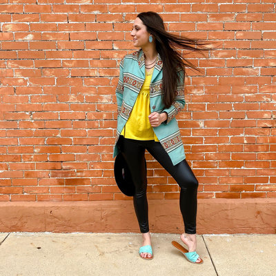 Punchy's The Samantha Coat in Turquoise Tribal