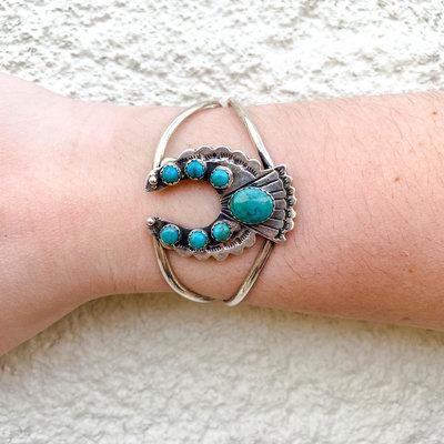 Punchy's Turquoise Naja Cuff