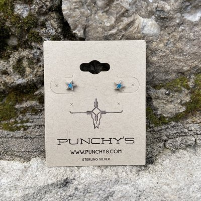 Punchy's Small Star Stud with Turquoise