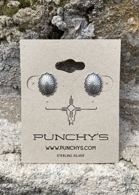 Punchy's Small Oval Flower Stud