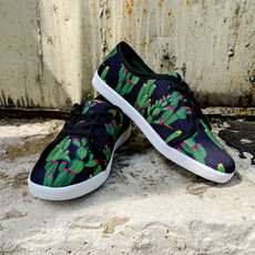 Punchy's Black Cactus Sneakers