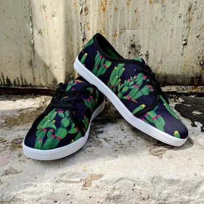 Punchy's Black Cactus Sneakers